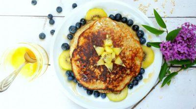 healthy pancakes - simple - easy - 3 ingredients