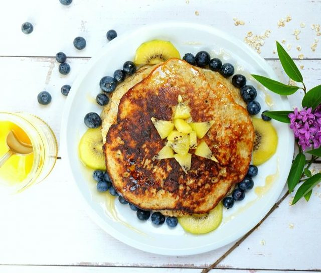 healthy pancakes - simple - easy - 3 ingredients
