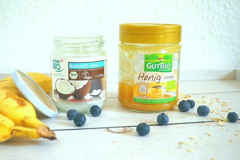 Honey, coconut oil, blueberries.
