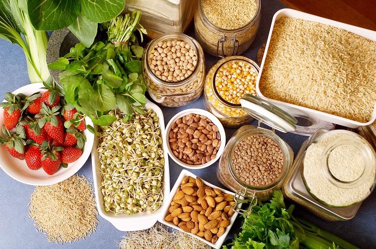 Still life of variety of Healthy Food