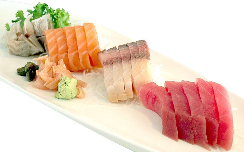 sushi healthy sushi sashimi salmon tuna delicious