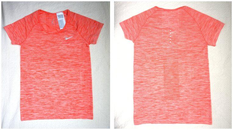 Nike Dri-FIT Knit Women's Short Sleeve Running Top Orange