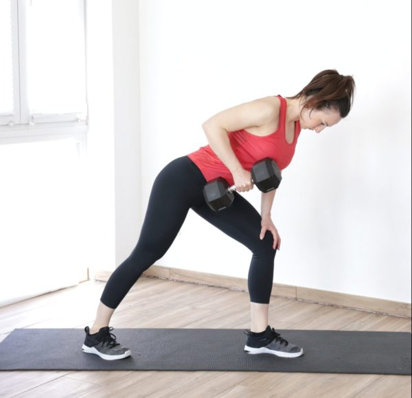 bent over dumbbell row exercise