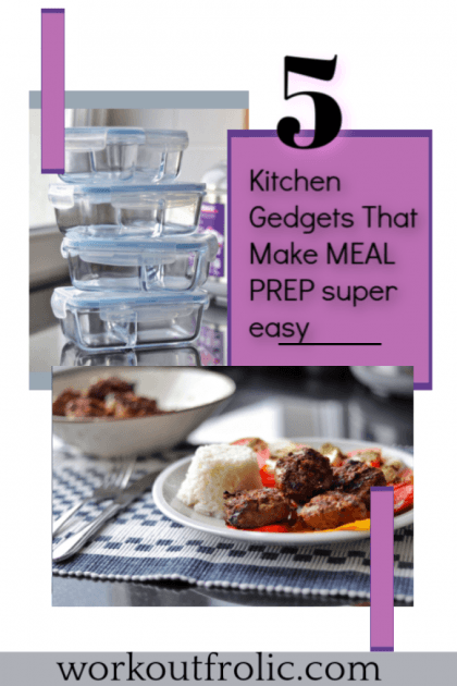 Pin for Pinterest for 5 gadgets that make meal prep super easy