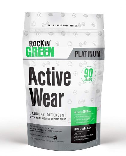 Rockin' Green Active Wear Detergent Fighting bad odors in workout clothes