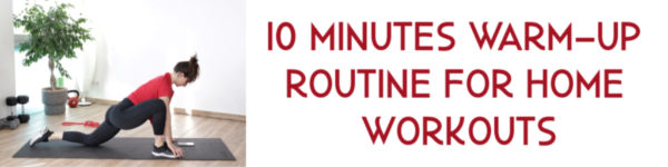 related reads banner leading to an article - 10 minutes warm-up routine for home workout