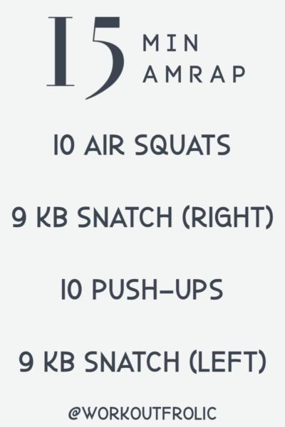 15 minutes amrap workout