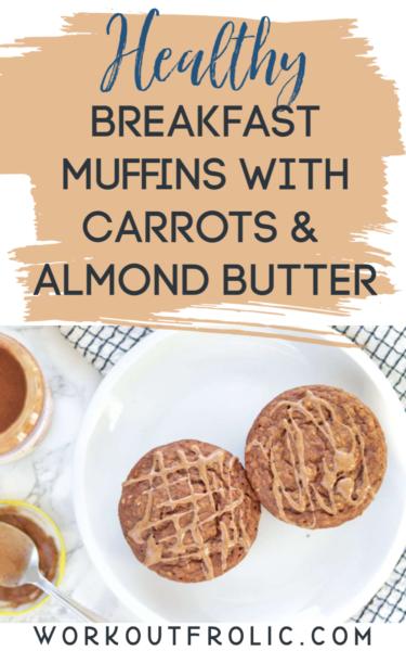 Healthy breakfast muffins collage.