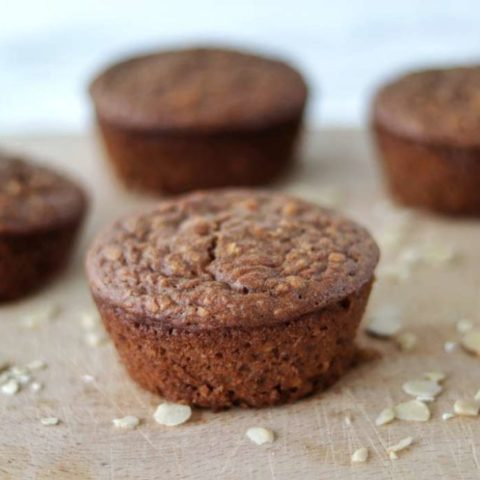 Healthy breakfast muffins with carrots and almond butter