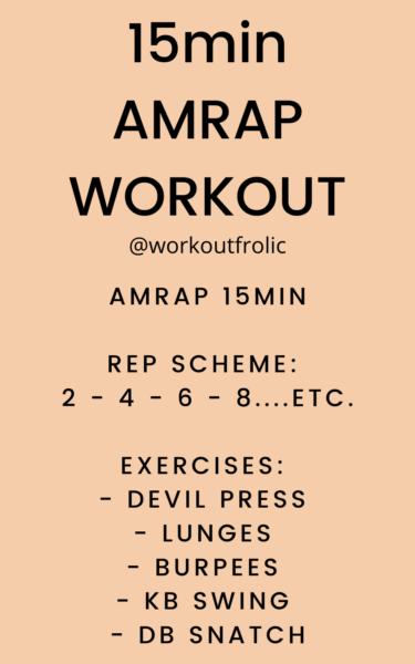 15min AMRAP Full Body Workout