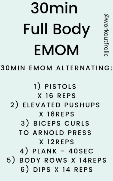 30min EMOM Full Body Workout