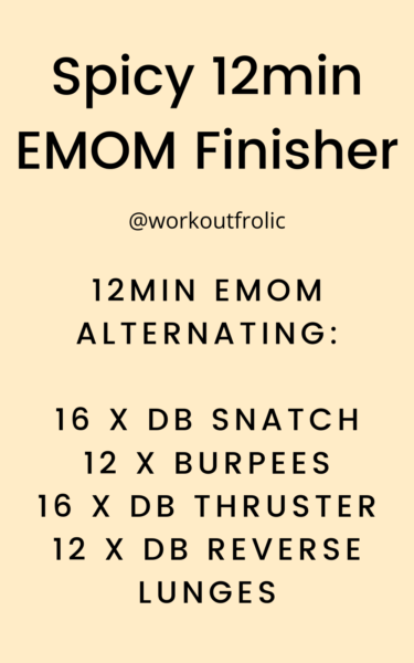 Pin for a spicy 12min EMOM workout / finisher