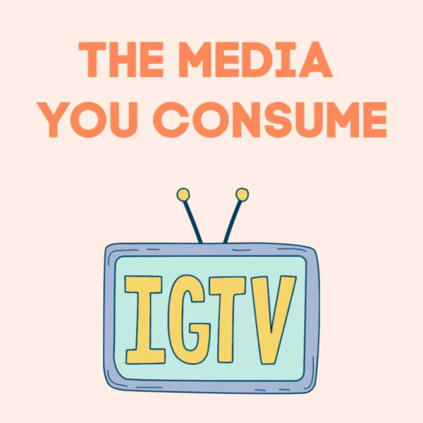 the media you consume illustration - the media affecting mood and mental health.
