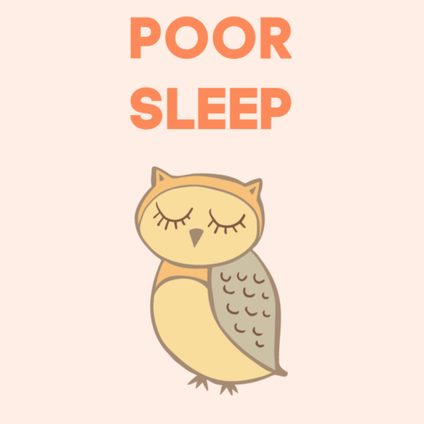 sleepy owl picture illustrating how important sleep is for good mood and mental health.