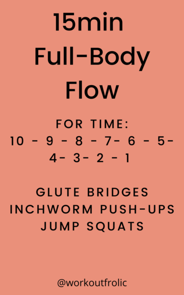 Image for a 15min Full-Body flow workout