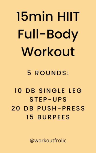 image of a 15min HIIT full-body workout