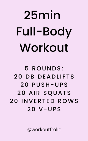 image of a 25min Full-Body Workout