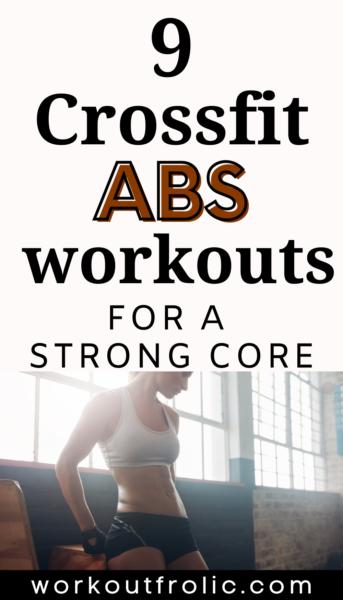 Crossfit ab workouts pinterest image