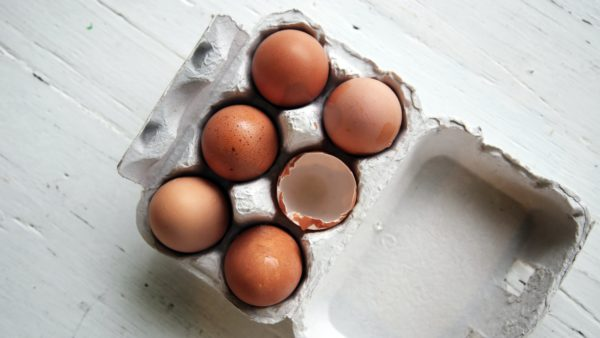 pack of eggs rich in protein which helps with sustainable weight loss.