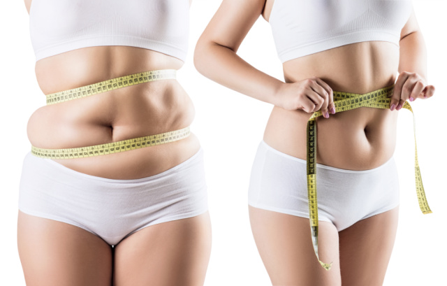 Image of a woman through sustainable weightloss